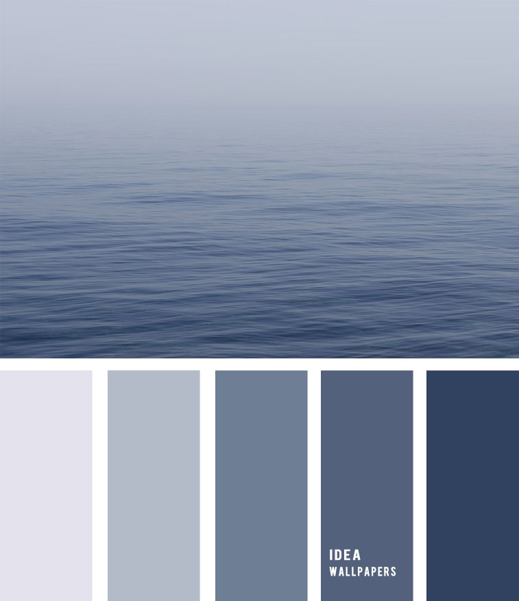 Deep Blue Ocean Color Palette , blue and grey , grey color palette #pantone #color #beach blue ocean