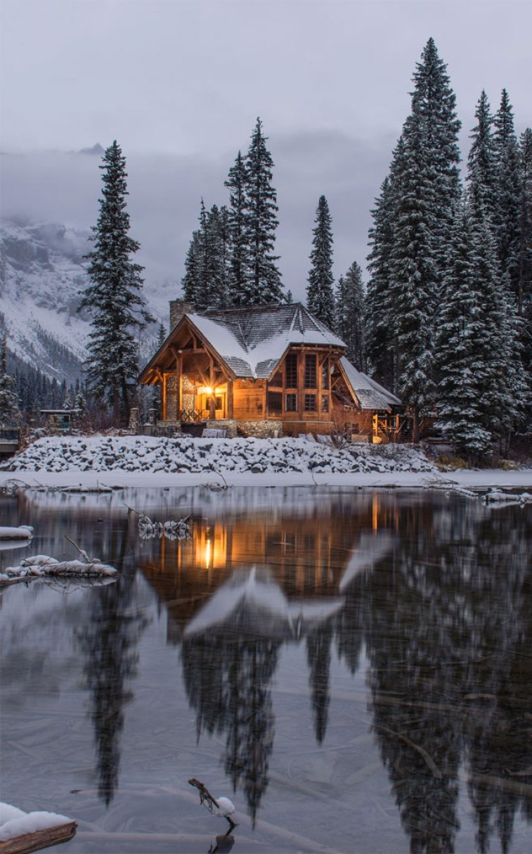 Cozy Log Cabin In Wintertime Idea Wallpapers Iphone Wallpapers Color Schemes