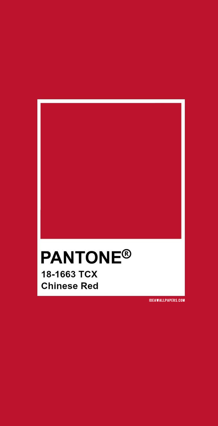 Pantone Chinese Red : Pantone 18-1663 #color #pantone