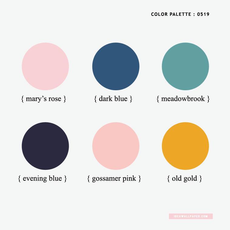 Evening Blue + Dark Blue + Gossamer Pink + Mary's Rose + Meadowbrook + Old Gold { Pantone Color Inspired } #color #spring #pantone