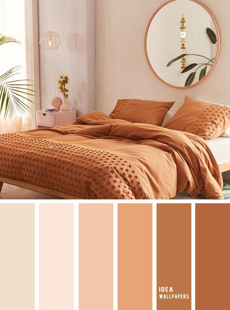 10 Best Color Schemes for Your Bedroom { Terracotta Earthy Tones } earthy color bedroom, grey color palette, colour palette #color #colorpalette
