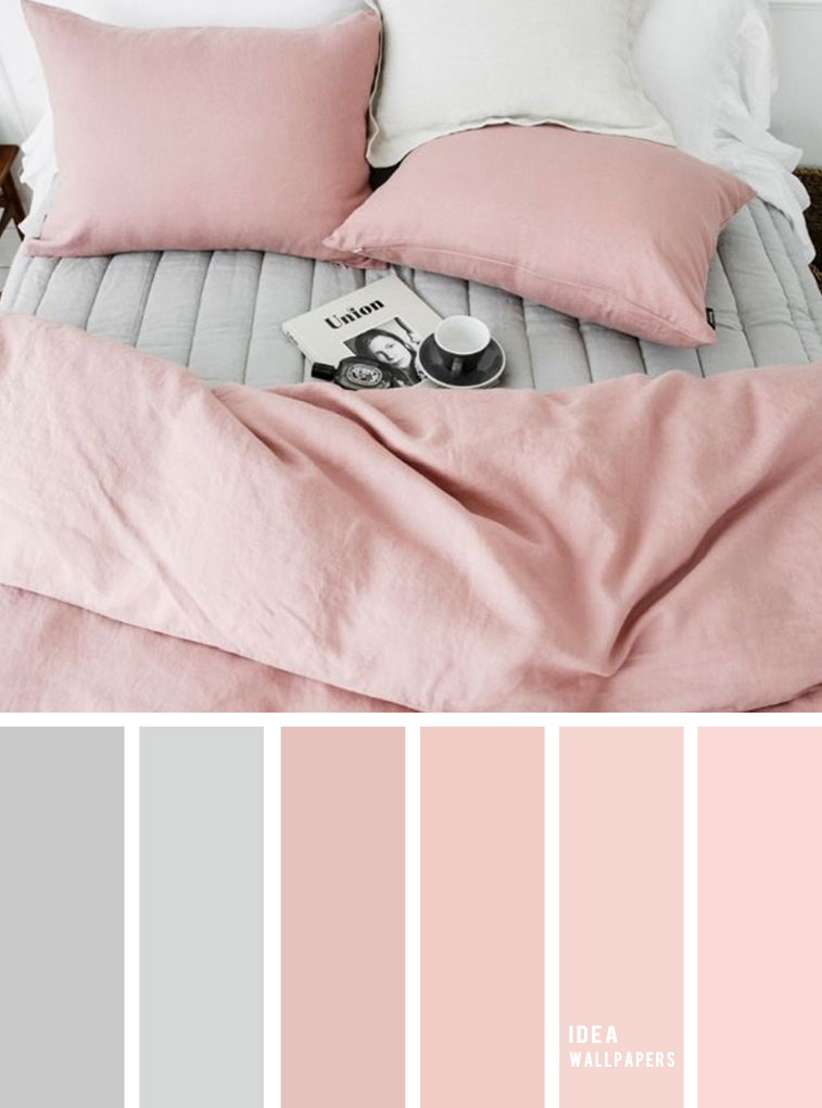 10 Best Color Schemes for Your Bedroom { Grey + Blush } blush and gray color bedroom, grey color palette, colour palette #color #colorpalette