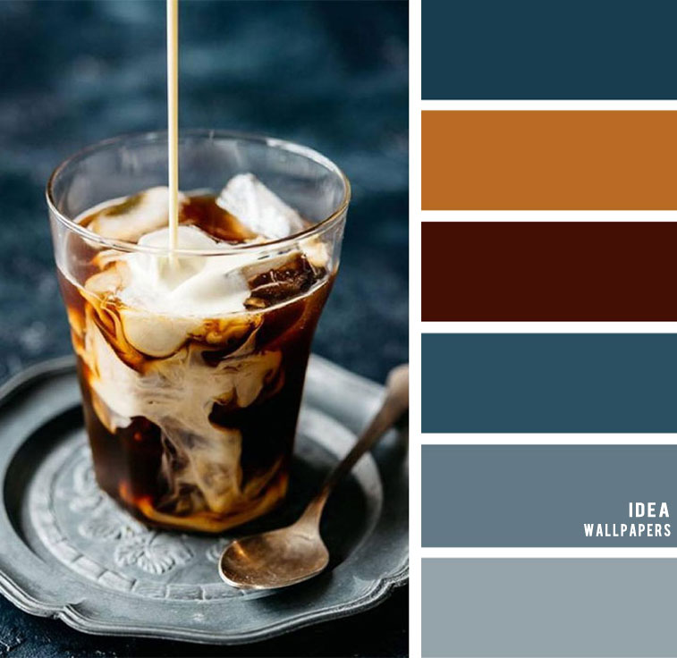 Blue and brown color combos #color #brown #blue