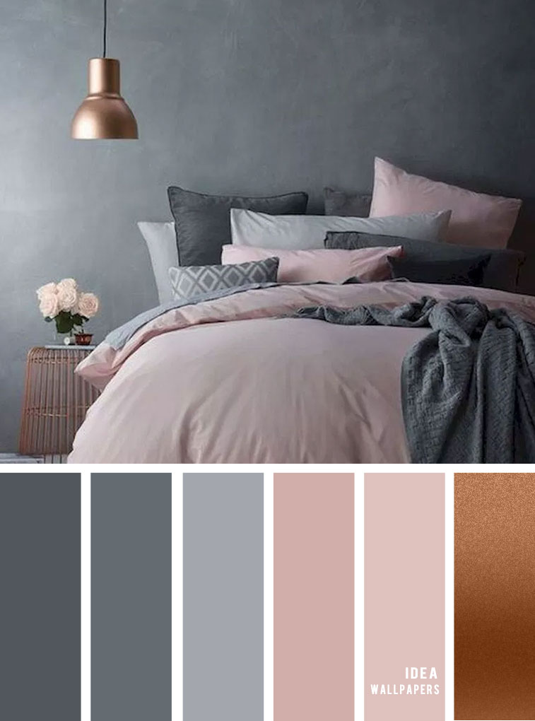 25 Best Color Schemes for Your Bedroom { Grey and Pink Mauve } #color #grey #pantone #colour #bedroom
