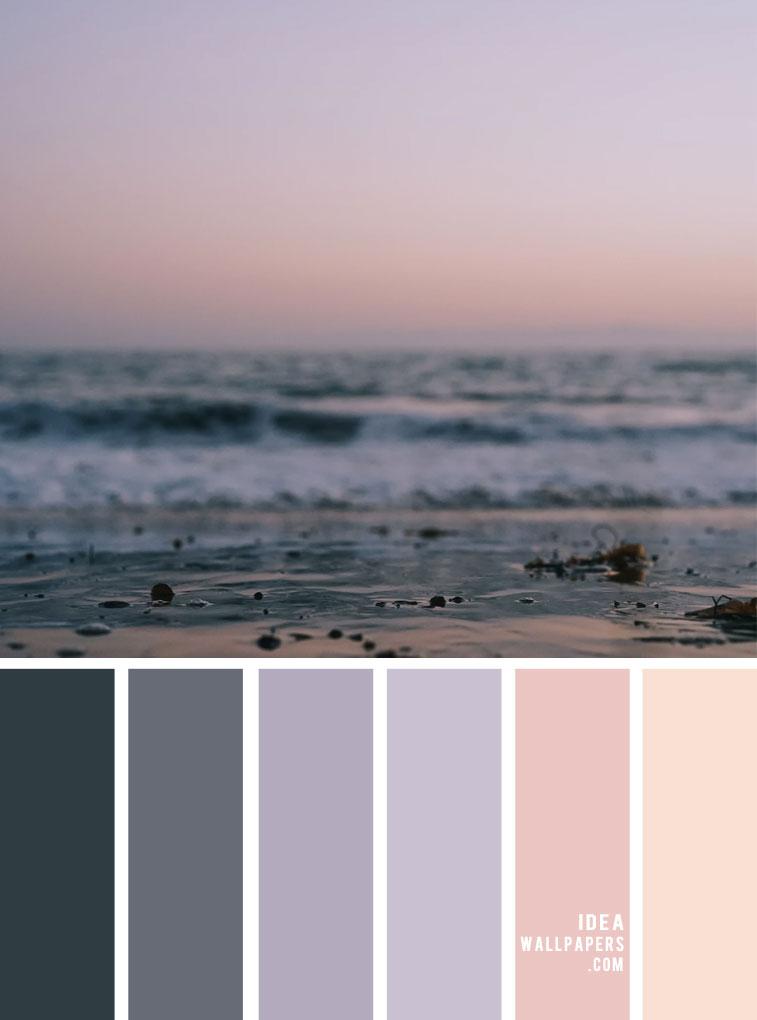grey and lavender color, color palette, color scheme, color combos, sky color , color palette ideas, peach sky color