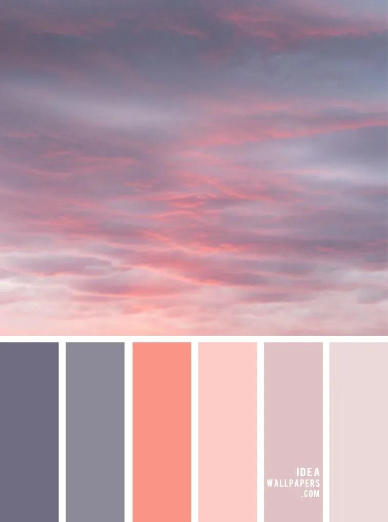 grey and peach color, color palette, color scheme, color combos, sky color , color palette ideas, peach sky color