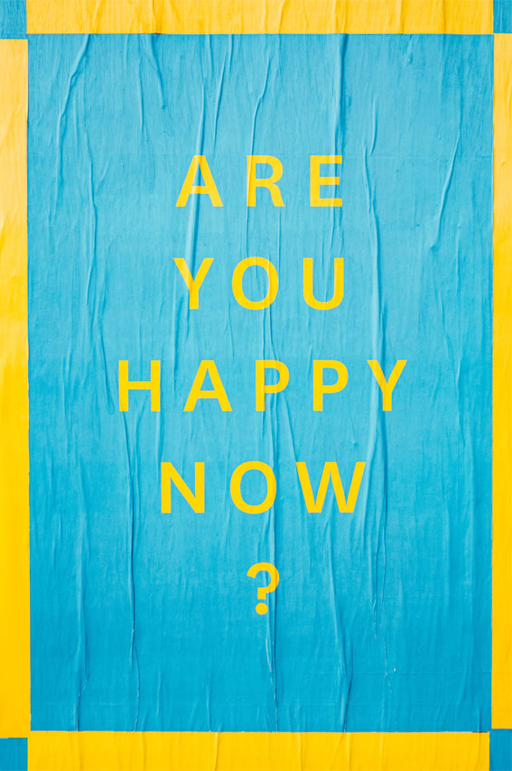 are you happy now? iphone wallpaper , blue and yellow background , blue and yellow iphone wallpaper