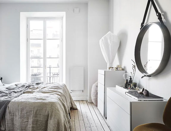 bedroom decor, apartment bedroom