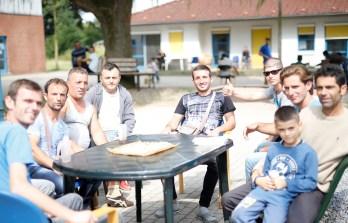 Besuch bei den Flüchtlingen