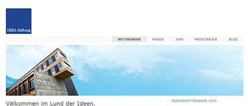Screenshot IKEA Stiftung Designwettbewerb