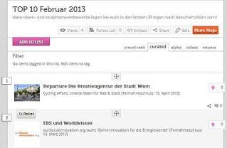 Screenshot ideenwettbewerbe.com Top 10 Februar 2013