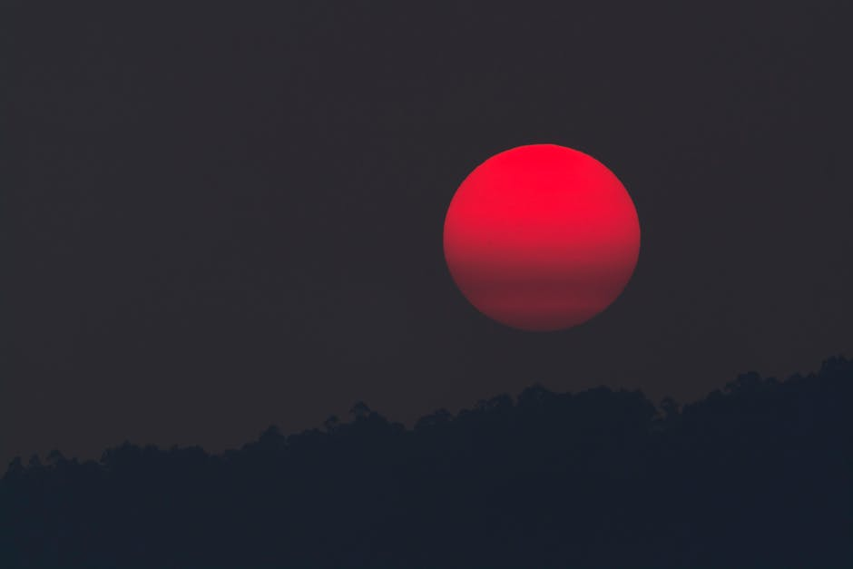 solen er så rød mor