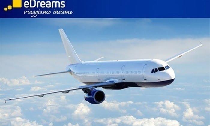 Sconti di 30, 60 e 70 euro su voli per ogni destinazione su eDreams