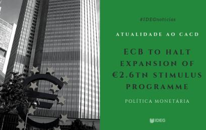Atualidades para o CACD: Política monetária (ECB)