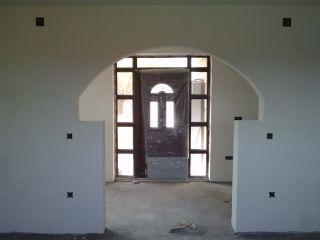 amenajare sufragerie cu arcada din rigips