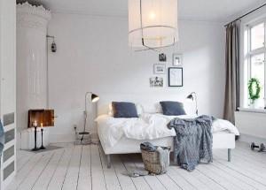 model dormitor parchet alb