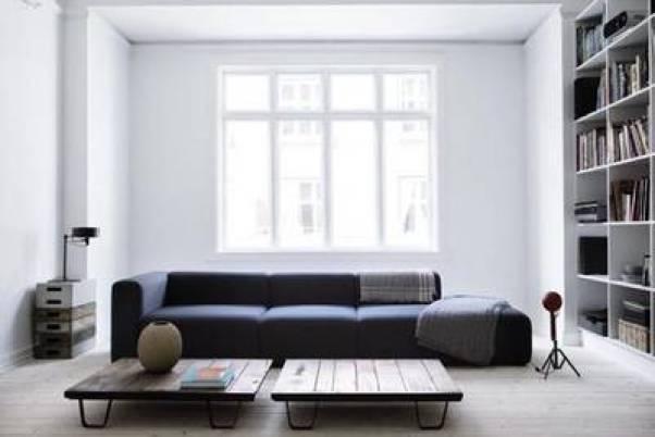 living room alb cu negru