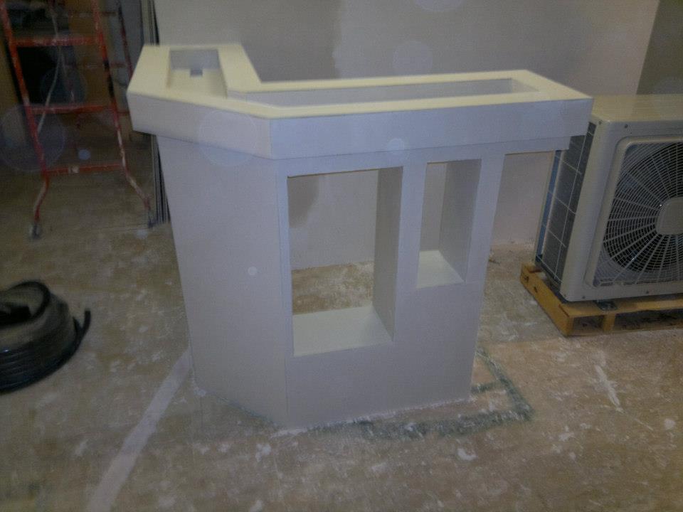 cum construim un bar din rigips mic