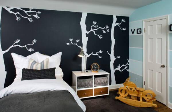 dormitor pictat