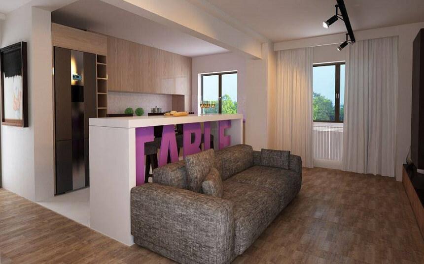 idee living room modern open space
