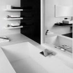 negru alba baie