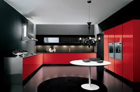 bucataria rosu cu negru