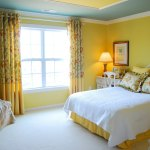model dormitor galben pai