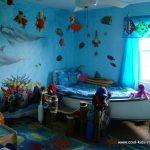 dormitor albastru marin