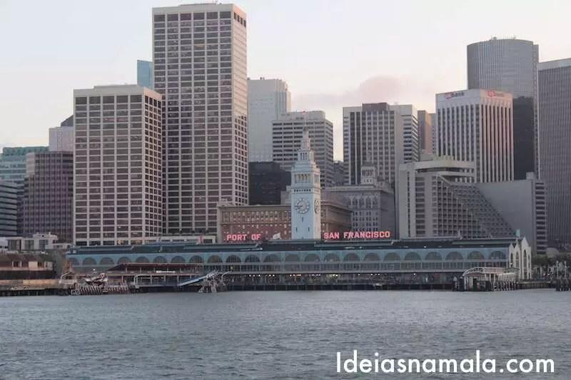 Chegada em San Francisco - Ferry