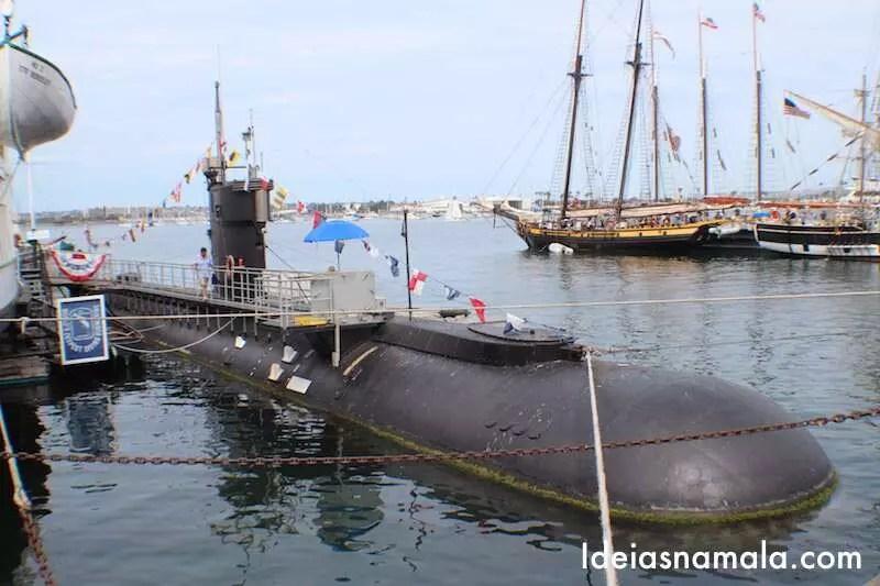 Submarino da segunda guerra mundial em San Diego