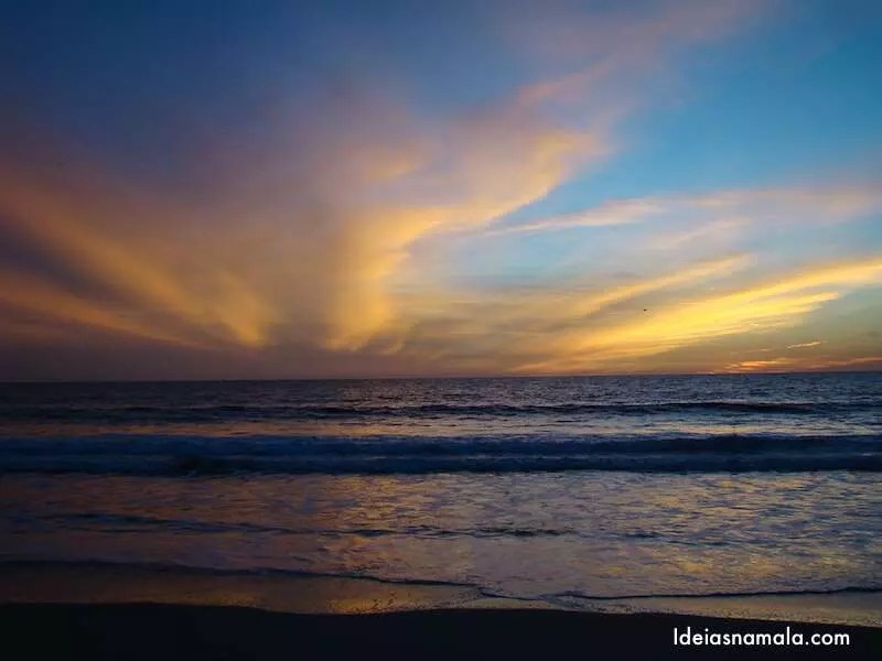 Pôr do sol em Santa Monica
