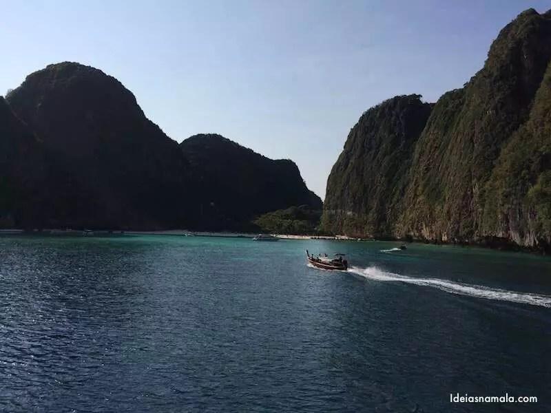 Chegada em Maya Bay - Tailândia