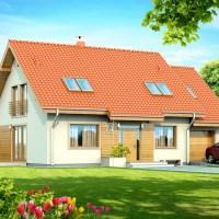 Proiect casa cu mansarda si garaj cu suprafata de 132 mp