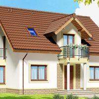 Proiect casa cu mansarda mica si ieftina de 120 mp