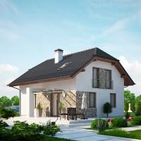 Proiect modern casa cu mansarda cu 4 dormitoare