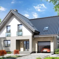 Model de casa cu arhitectura impresionanta in suprafata de 133 mp + garaj