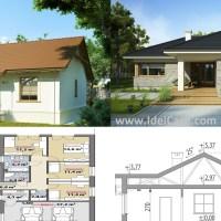 Modele de case doar cu parter. Proiecte detaliate cu planuri si poze interior-exterior