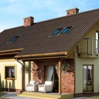 Proiect de casa cu mansarda, 5 dormitoare si garaj