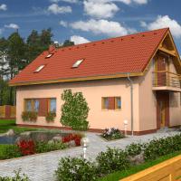 Proiect casa cu mansarda pretabil pe terenuri inguste. Arata de nota 10