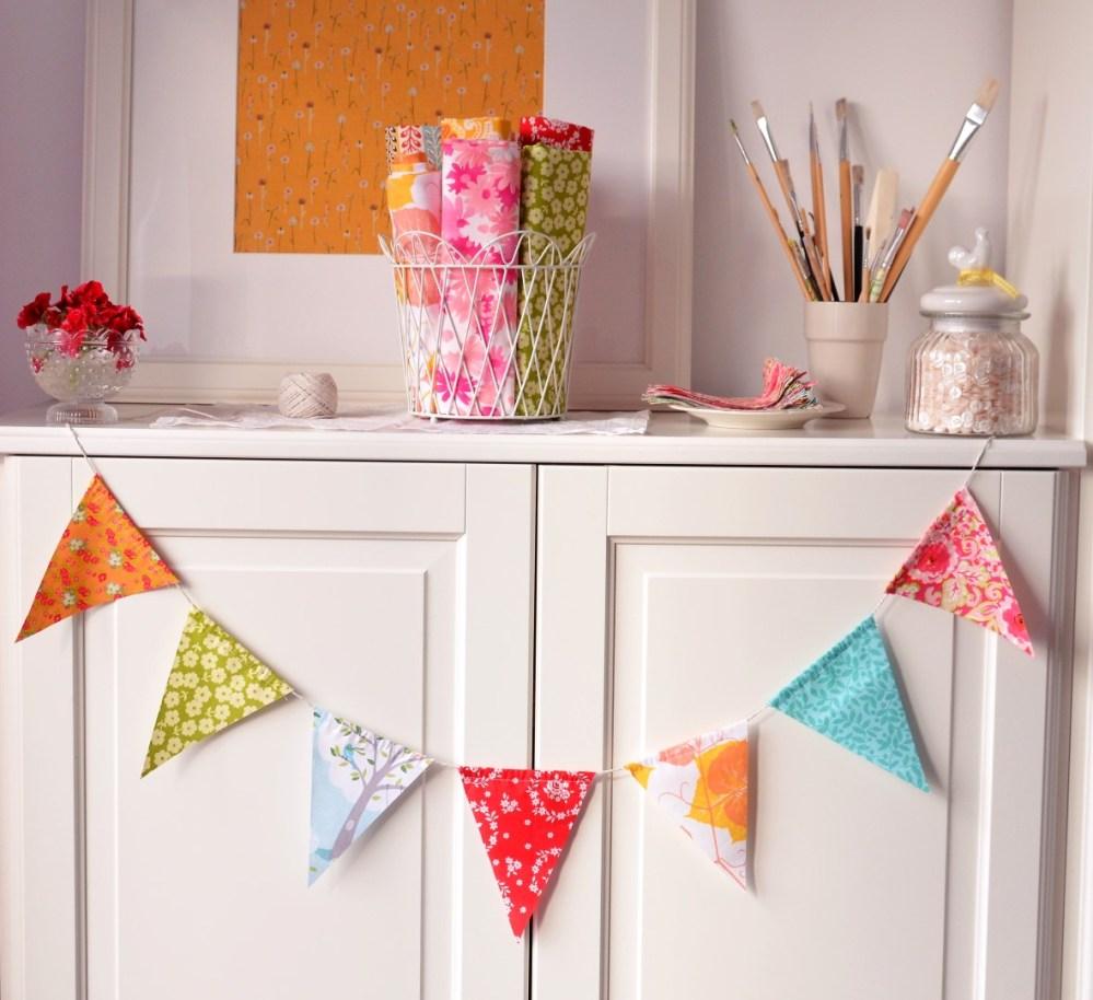 Summer garden party flags - tutorial (1/6)