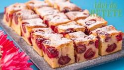 Prăjitură rapidă cu cireșe sau vișine