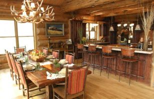 Interioare de vis din cabane rustice de lemn 15