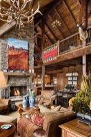 Interioare de vis din cabane rustice de lemn 29