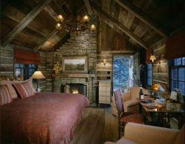 Interioare de vis din cabane rustice de lemn 8