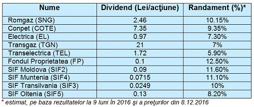 Randament dividende