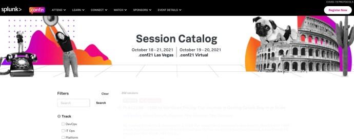 Splunk conf21 Session Catalogue