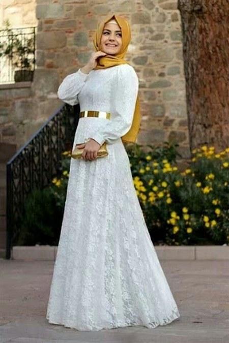 Model Baju Muslim Hijab Pesta-Putih