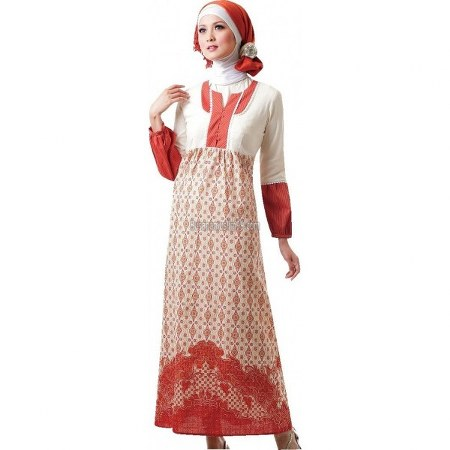 baju muslim dress batik untuk kerja