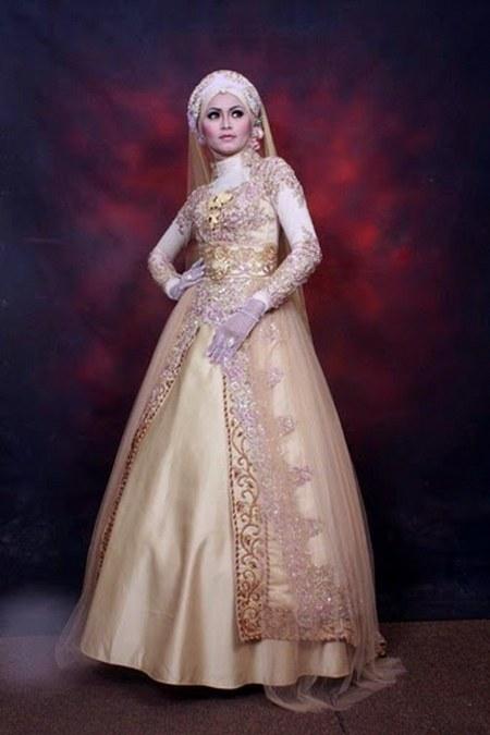 kebaya pengantin muslim paling baru