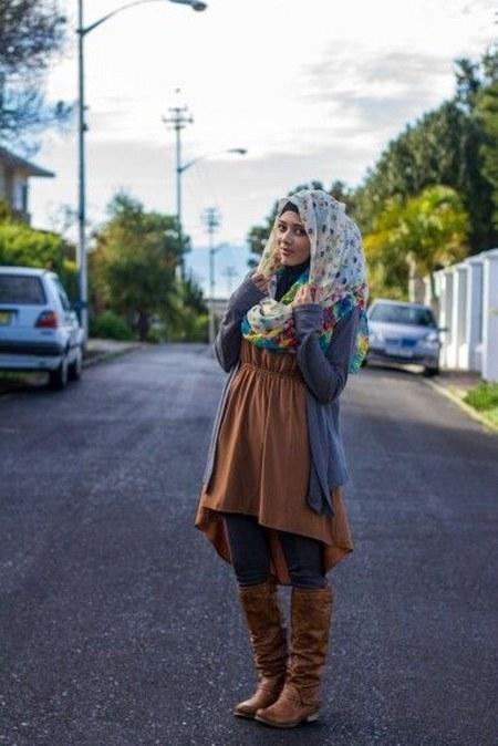 Dress Hijab dan Sepatu Boot (4)